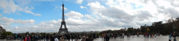Pogled na Eiffelov toranj sa Esplanade du Trocadero