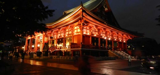 Senso-ji Temple u sumrak, najstariji i jedan od najposjećenijih hramova u Tokiu