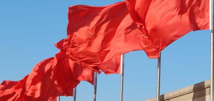 Zastave na Tiananmen trgu