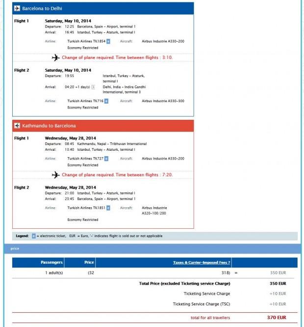 Barcelona >> Delhi -- vlastiti prijevoz -- Kathmandu >> Barcelona