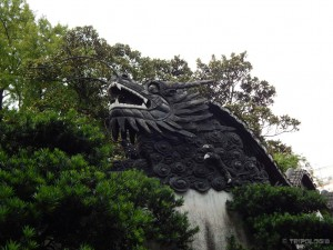 Yu Yuan Garden, zmajevi su posvuda, ovaj je ograda