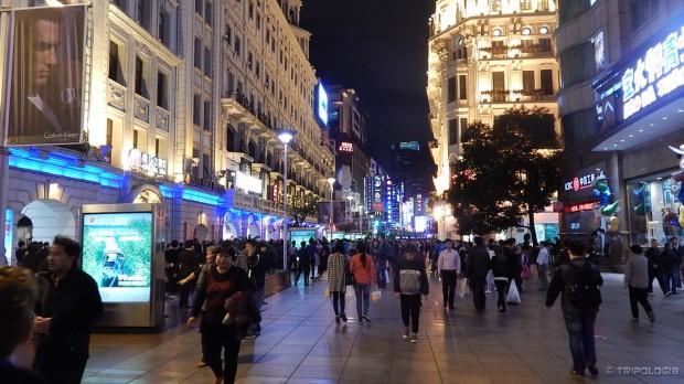 Nanjing road, večernja gužva
