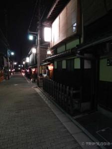 Gion Corner, puste ulice pune crvenih lampiona