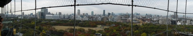 Osaka Castle, panoramski pogled sa vrha