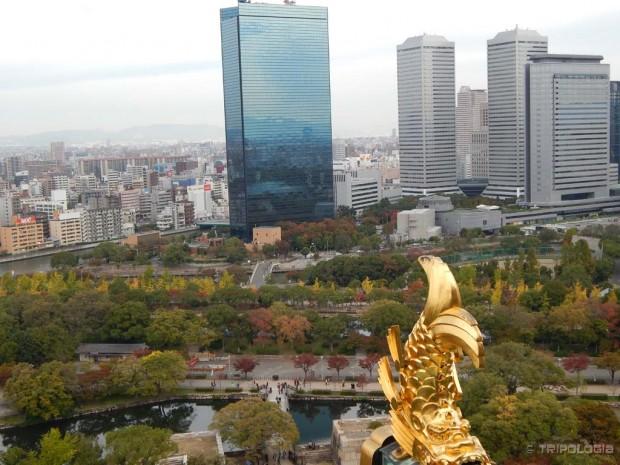 Pogled sa zadnjeg kata Osaka Castle-a