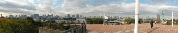 Odaiba, Rainbow most, grad i njihov Kip Slobode