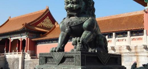 Zabranjeni grad, opasan čuvar ispred Gate of Supreme Harmony