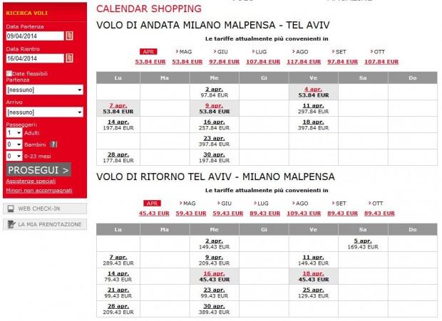 Milano >> Tel Aviv >> Milano - 4.mjesec