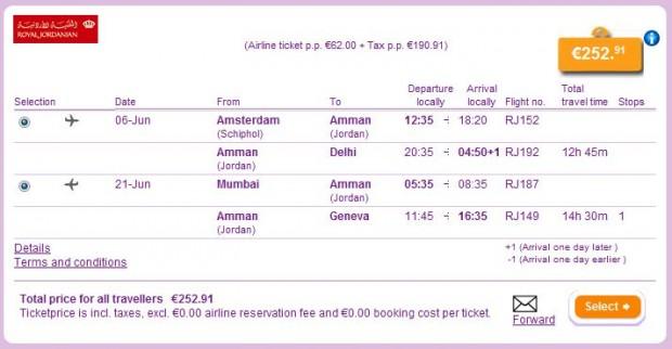 Amsterdam >> Delhi -- Mumbai >> Ženeva