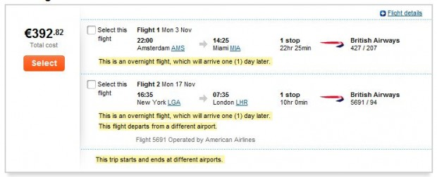 Amsterdama >> Miami -- New York >> London