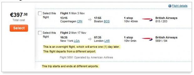 Kopenhagen >> Boston -- New York >> London