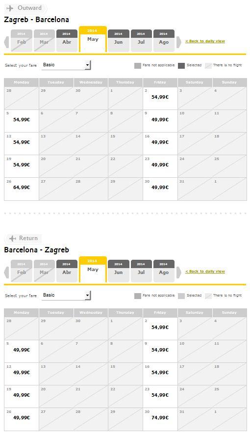 Zagreb >> Barcelona >> Zagreb
