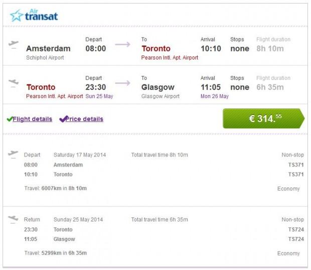 Amsterdam >> Toronto >> Glasgow