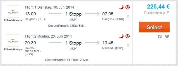Beograd >> Bangkok -- Ho Chi Minh City >> Milan