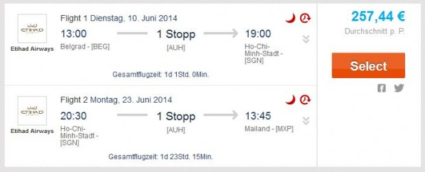 Beograd >> Ho Chi Minh City >> Milan