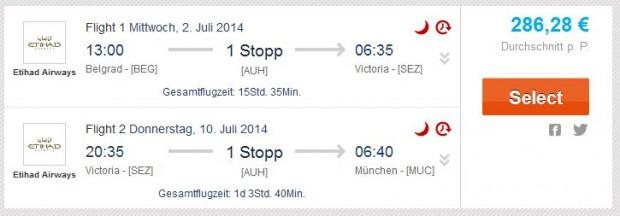 Beograd >> Mahe (Sejšeli) >> Minhen