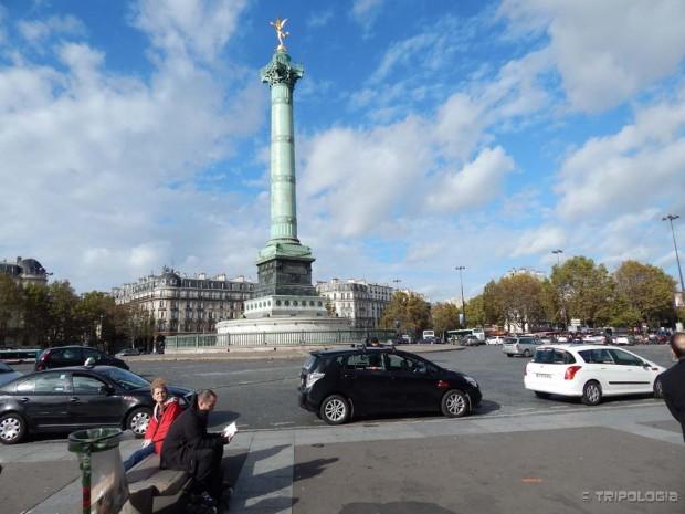 Place de la Bastille - trg na mjestu nekadašnjeg zloglasnog zatvora