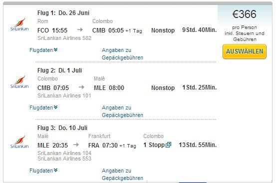 Rim >> Colombo >> Male >> Frankfurt