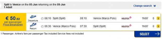 Split >> Venecija >> Split (edrams)