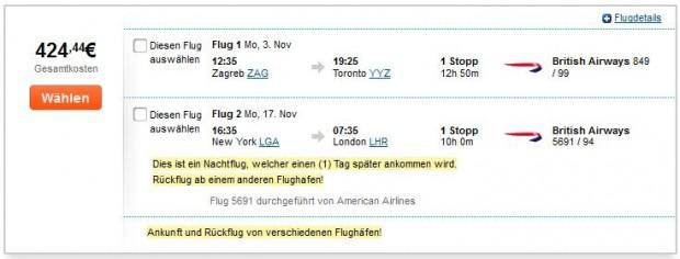 Zagreb >> Toronto -- New York >> London