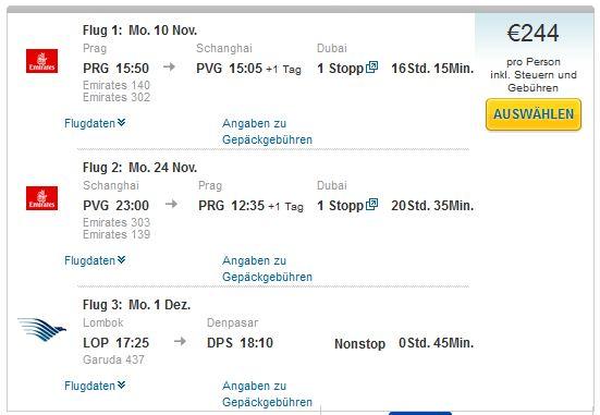 Prag >> Šangaj >> Prag