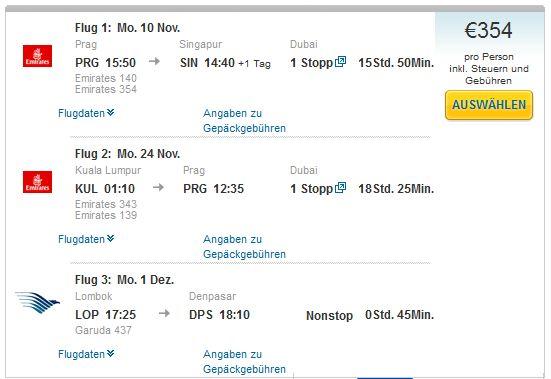 Prag >> Singapur -- Kuala Lumpur >> Prag
