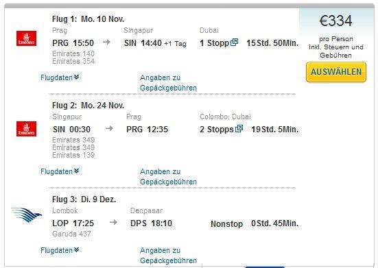 Prag >> Singapur >> Prag