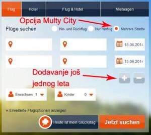 Multy city opcija