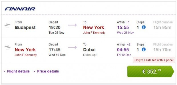 Budimpešta >> New York >> Dubai