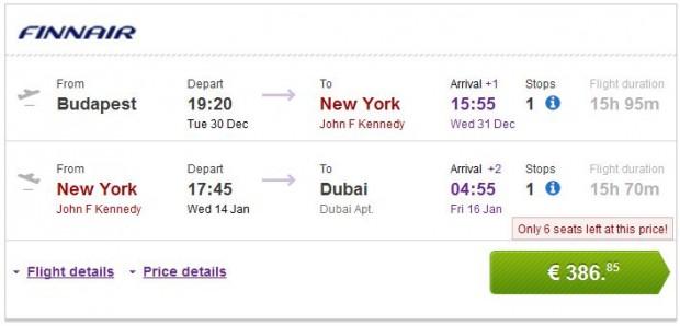 Budimpešta, Brisel >> New York >> Dubai, novogodišnji praznici