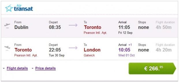 Dublin >> Toronto >> London