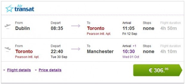 Dublin >> Toronto >> Manchester