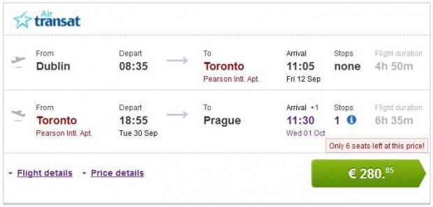 Dublin >> Toronto >> Prag