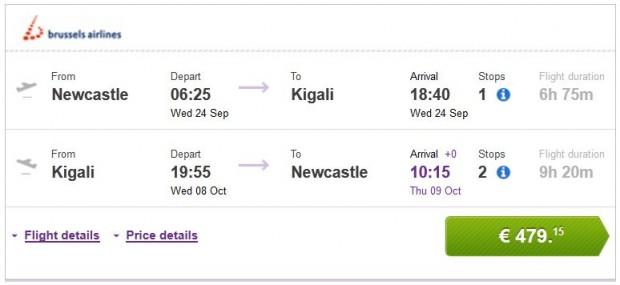 Newcastle >> Kigali >> Newcastle