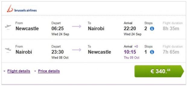 Newcastle >> Nairobi >> Newcastle