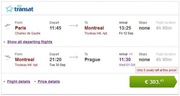 Pariz >> Montreal >> Prag