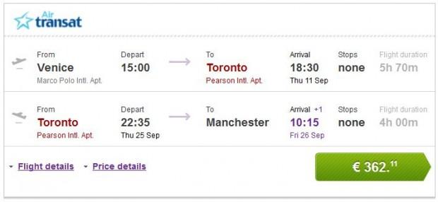 Venecija >> Toronto >> Manchester