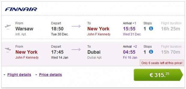 Varšava >> New York >> Dubai, novogodišnji praznici