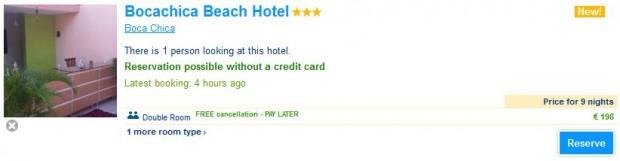 Boca Chica, Bocachica Beach Hotel 9 noći