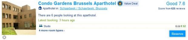 Brisel, Condo Gardens Brussels Aparthotel 1 noć