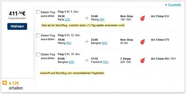 Pariz >> Peking >> Bangkok >> Frankfurt