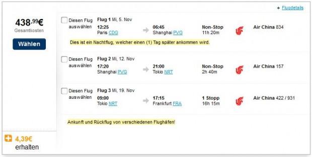 Pariz >> Šangaj >> Tokio >> Frankfurt