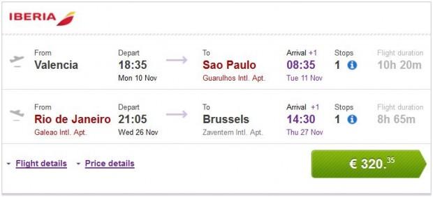 Valencia, Malaga, Bilbao, Barcelona >> Sao Paulo — Rio de Janeiro >> Brisel