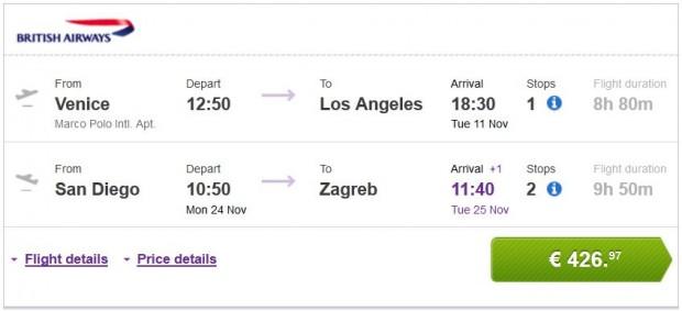 Venecija >> Los Angeles -- San Diego >> Zagreb