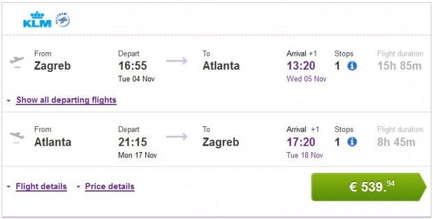 Zagreb >> Atlanta >> Zagreb