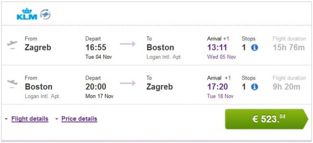 Zagreb >> Boston >> Zagreb