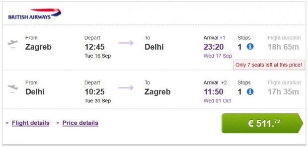 Zagreb >> Delhi >> Zagreb