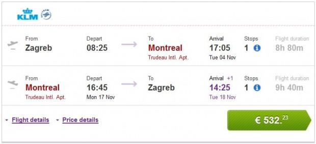 Zagreb >> Montreal >> Zagreb