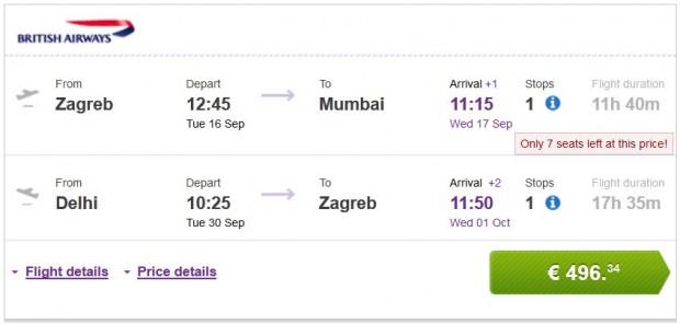 Zagreb >> Mumbai -- Delhi >> Zagreb