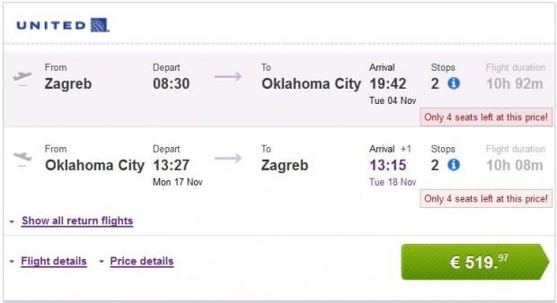 Zagreb >> Oklahoma City >> Zagreb